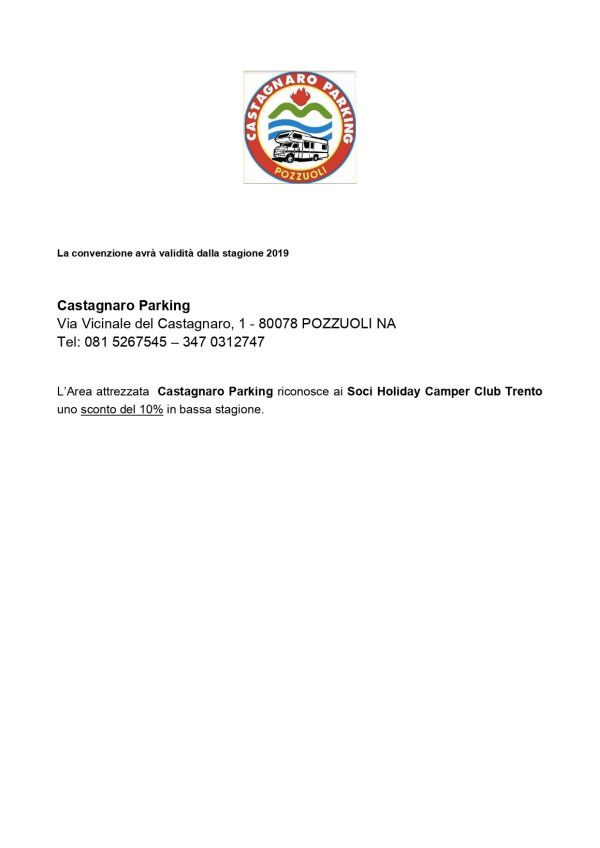 Convenz Castagnaro Parking 2019